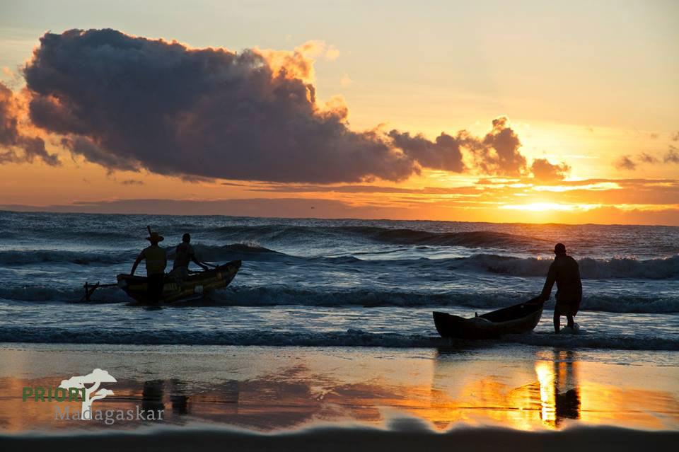 Sonnenuntergang Strand Madagaskar