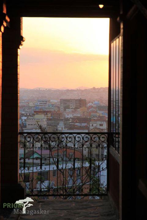 Antananarivo, Madagaskar, Sonnenuntergang