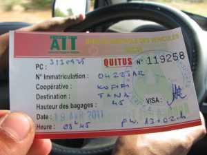 Taxi Brousse Madagaskar Ticket