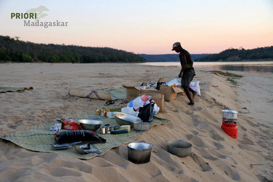 Camping Madagaskar Tsiribihina Zelt