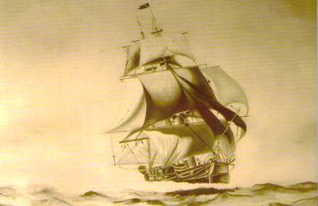 Piratenschiff Madagaskar Postkarte Piratenmuseum PRIORI