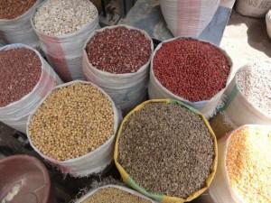 Markt Madagaskar Zoma Antananarivo Hülsenfrüchte