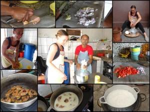 Kochkurs_Zubereitung-Poulet a coco.Collage