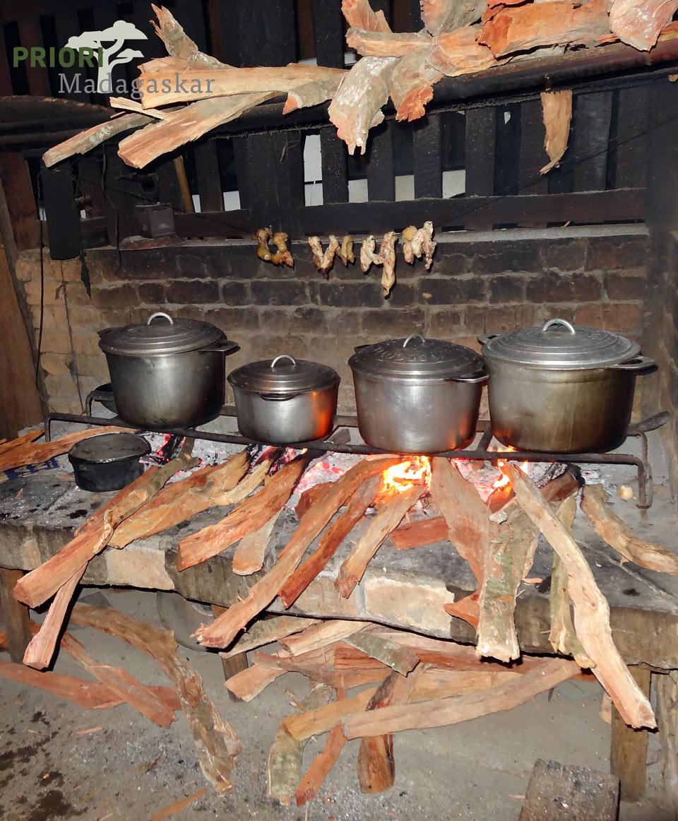 Madagaskar Küche Feuerstelle