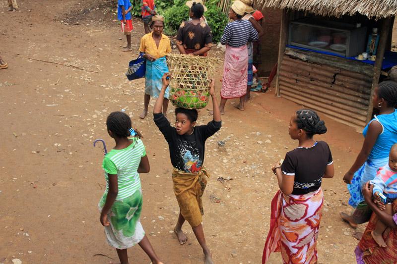 Madagaskar-Litschi-Transport
