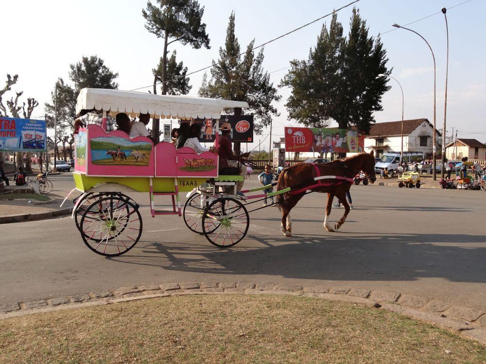 Pferdekutsche in Madagaskar