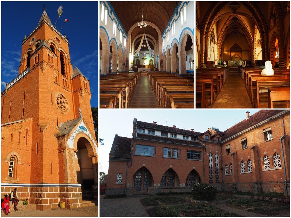 Kirche und Kloster in Ambositra in Madagaskar