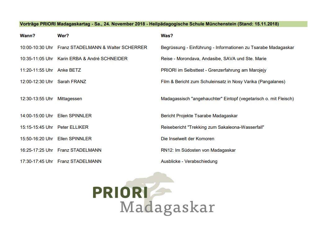 Madagaskartag - Vorträge (24. November 2018)