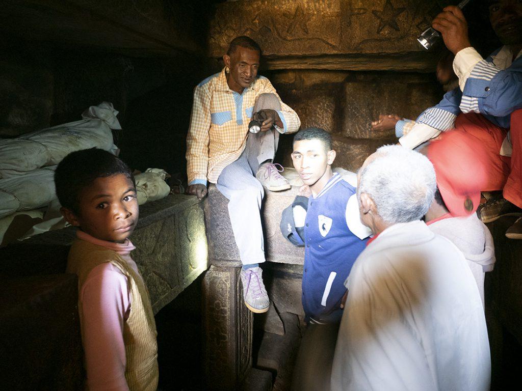 In die Familiengrab Famadihana Madagaskar