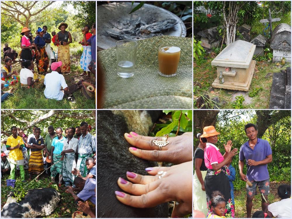 Opfergaben Famadihana Madagaskar