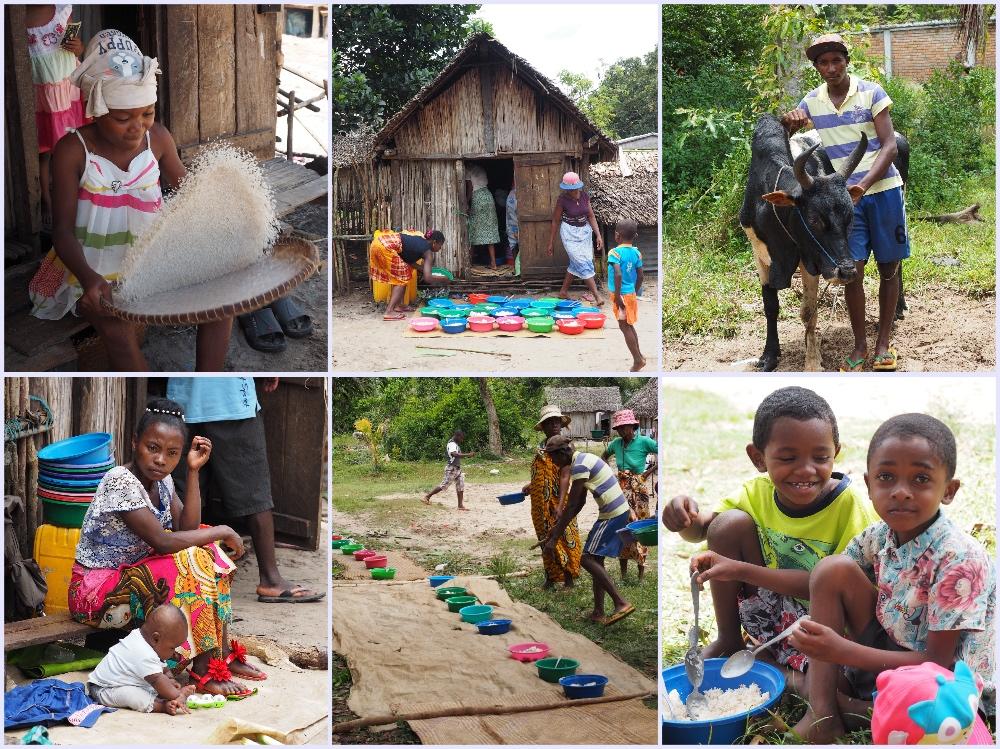 Mittagessen Famadihana Madagaskar