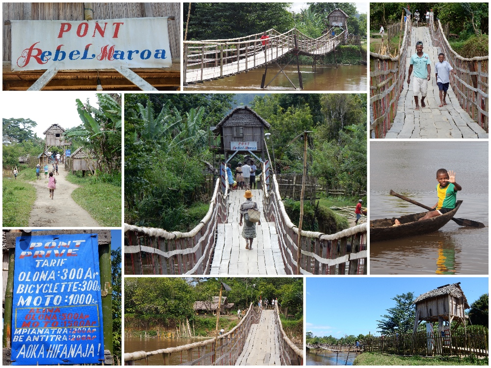 Hängebrücke von Maroantsetra in Madagaskar.