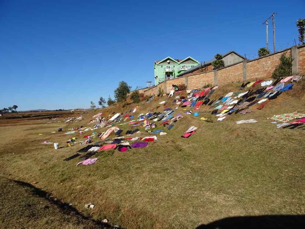 Wäsche waschen in Madagaskar