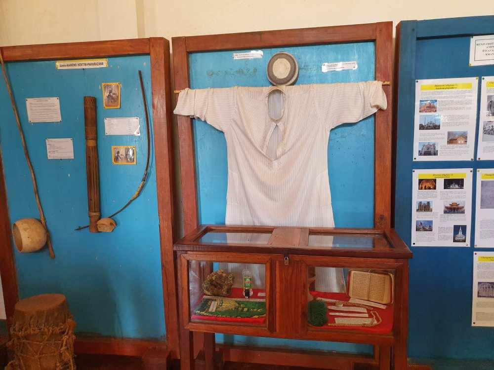 Ausstellungsraum Mozea Akiba Museum, Mahajanga, Madagaskar