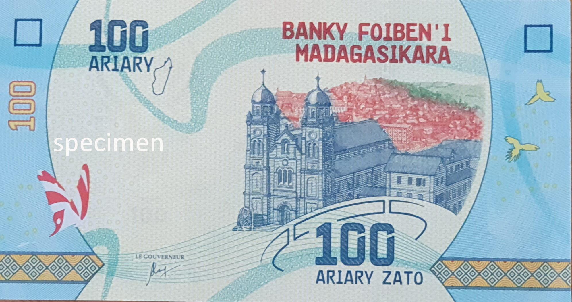 Banknote in Madagaskar, Geldschein von 100 Ariary
