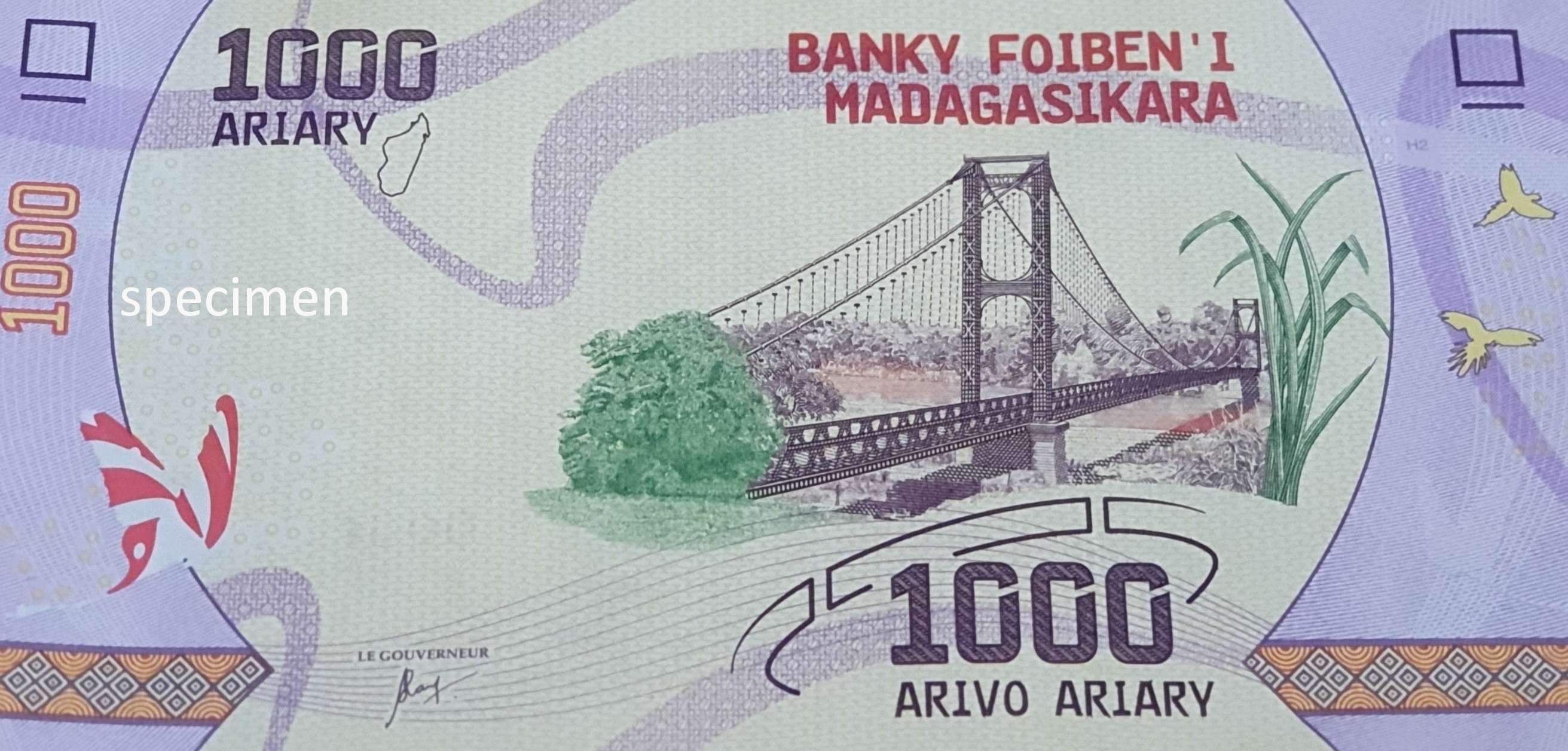 Banknote in Madagaskar, Geldschein von 1000 Ariary