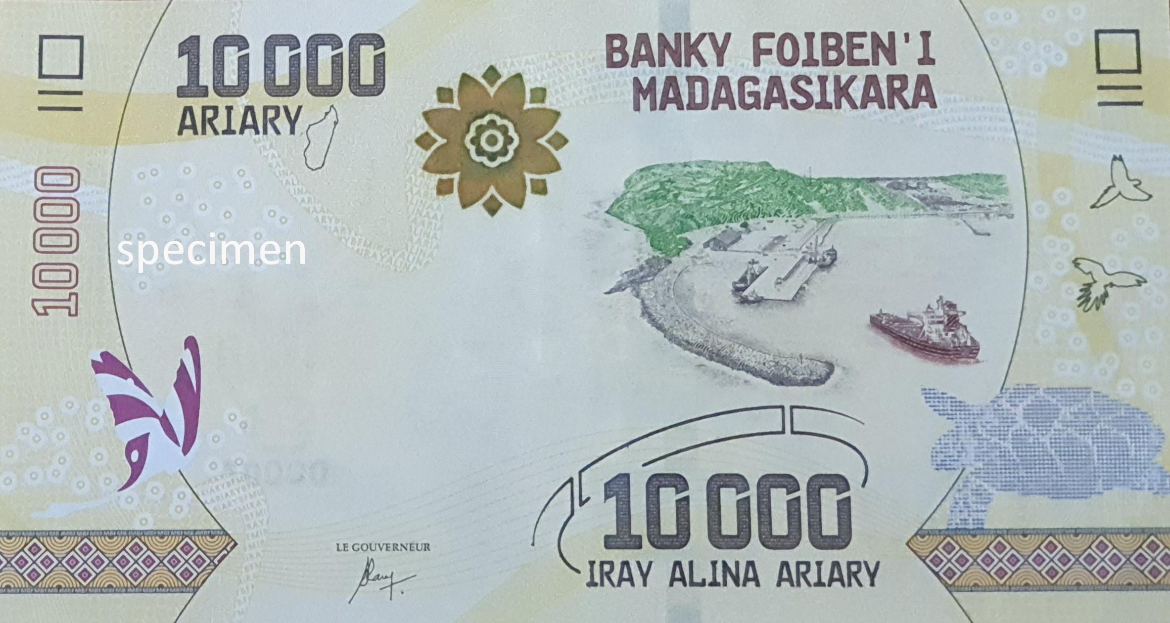 Banknote in Madagaskar, Geldschein von 10000 Ariary