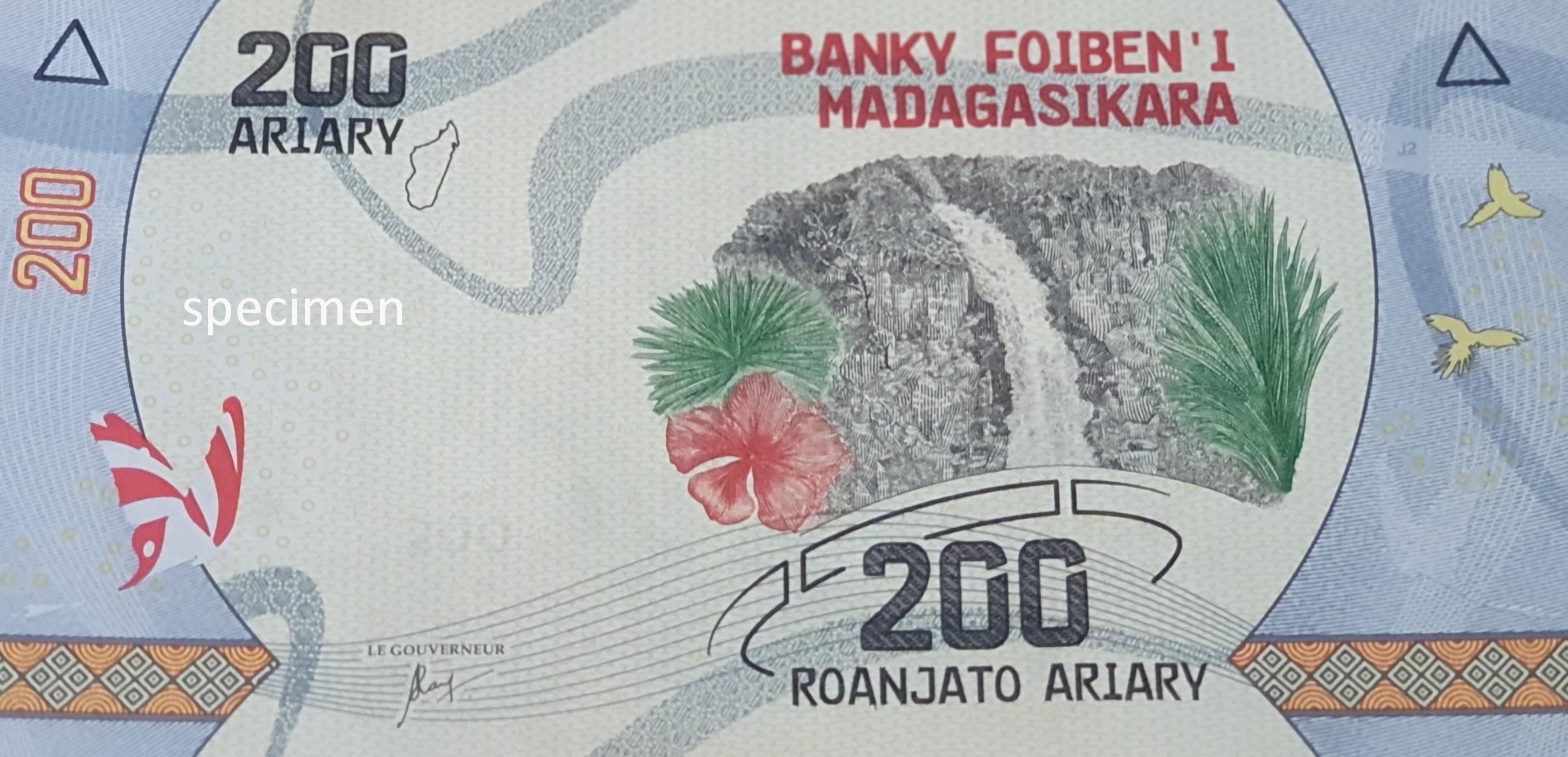 Banknote in Madagaskar, Geldschein von 200 Ariary