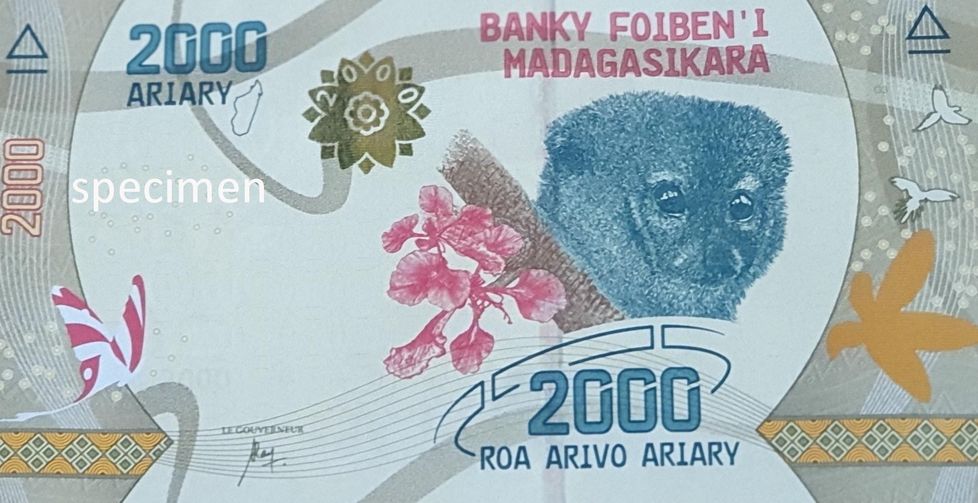 Banknote in Madagaskar, Geldschein von 2000 Ariary