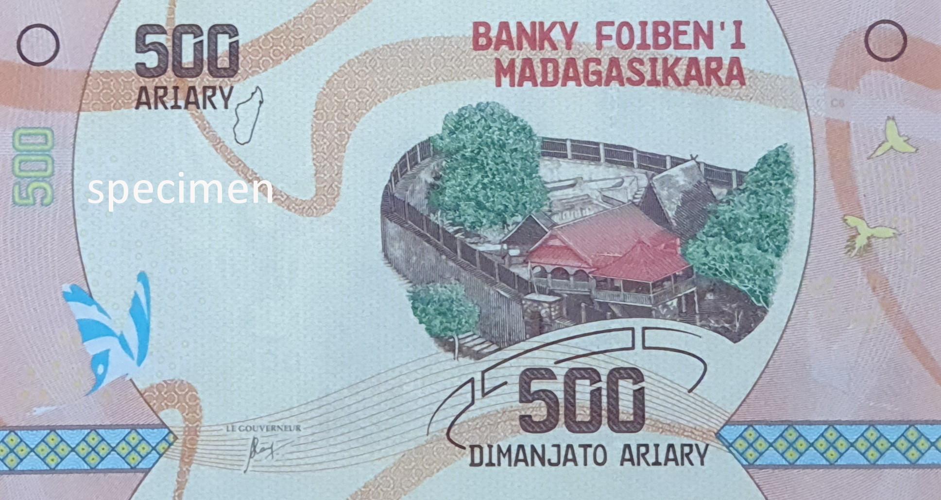 Banknote in Madagaskar, Geldschein von 500 Ariary
